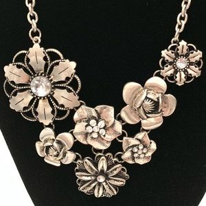 Cookie Lee Flower Statement Necklace